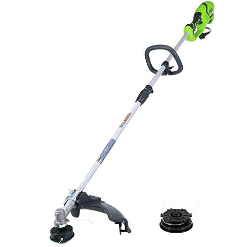 Greenworks 18-Inch 10 Amp Straight Shaft Electric String Trimmer/Edger with Extra Bulk Line 21142 (Renewed)