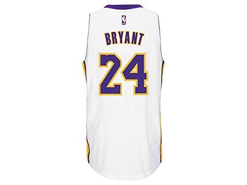 Adidas Men's Los Angeles Lakers NBA Kobe Bryant Swingman Jersey White Medium
