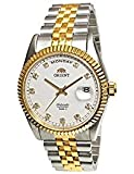 "ORIENT ""President"" Classic Automatic Sapphire Watch Two Tone Gold EV0J002W"
