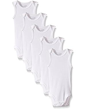 Carters White Sleeveless Bodysuit Onesies