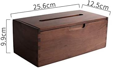Wooden Tissue Box Household Simple Paper Box Dining Table Napkin