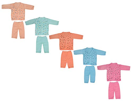 Bharat Clothing Set for Baby Boys and Baby Girls 100% Cotton (0-6 Month)