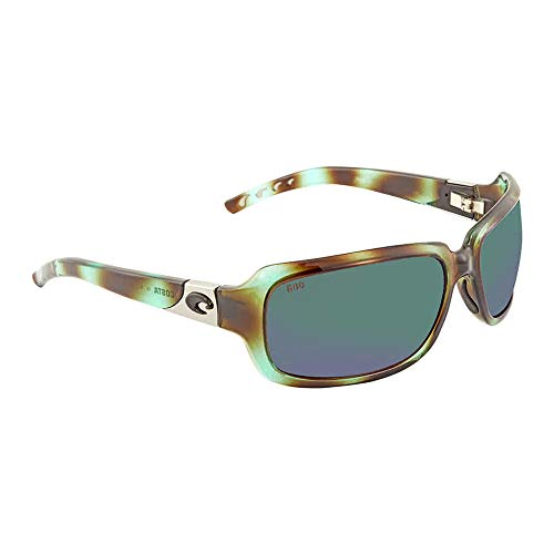 Costa Del Mar Isabela 580G Isabela, Shiny Seagrass Green Mirror, Green ()