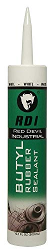 (Red Devil 06970I Rd Pro Butyl Rubber Sealant, White, 10.1 Oz.)
