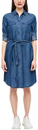 s.Oliver RED Label Damen Hemdkleid aus Light Denim