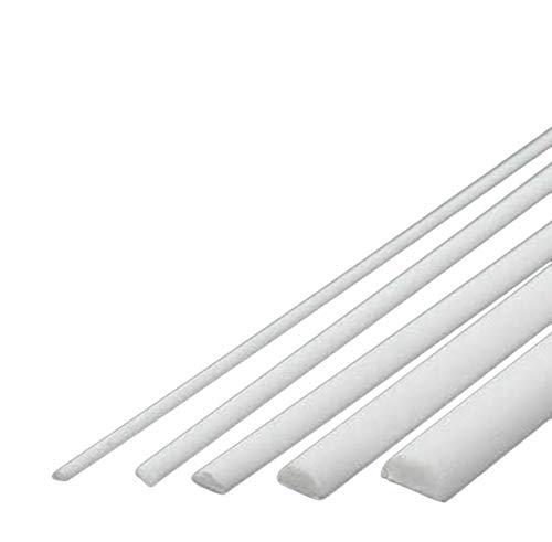 20 pcs ABS Styrene Plastic Round Bar Rods Diameter 2mm length 250mm White