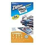 Ziploc Space Bag, Variety Pack, 6 Count (Flat Bag: 2 Medium, 2 Large,1 XL; 1 Space Cube)