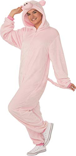 Rubie's Unisex-Adult's Opus Collection Comfy Wear Pig Costume, Pink, L-XL
