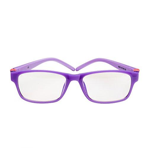 PROSPEK Kids Computer Glasses - Blue Light Blocking Glasses - Moviestar (Purple)