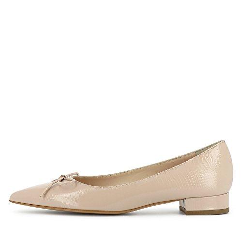 Cuir Franca Imprimé Beige Verni Clair Femme Escarpins Evita Shoes wqnBRC776