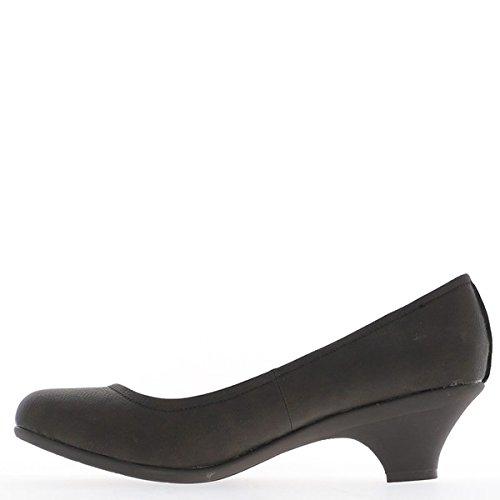 Tamanho Cm Sapatos Castanhos Grandes De 5 Salto Mulheres 5 wSq86SX