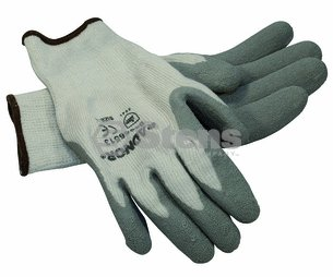 Oregon Gray Thermal Glove/Latex Palm Coated, Large by