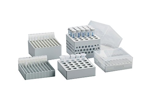 Eppendorf 0030140613 Storage Box for 25 Screw Cap Tubes 5mL, 5'' Length, 5'' Width, 3'' Height (Pack of 2)