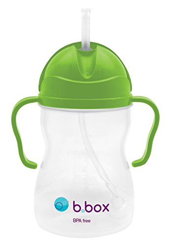 - b.box Sippy Cup with Innovative Weighted Straw   Easy-Grip Handles   Color: Apple   8 oz.   BPA-Free   Phthalates & PVC Free   Dishwasher Safe