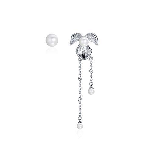 Aokarry Women Earring, Silver Plated Pearl Stud Earring ()
