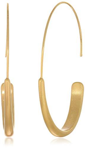 Lucky Brand Women's Brushed Hoop Earrings