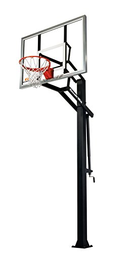Goalrilla GS In-Ground Basketball Systems with Tempered Glass Backboard (Gorilla In Ground Basketball Hoop)