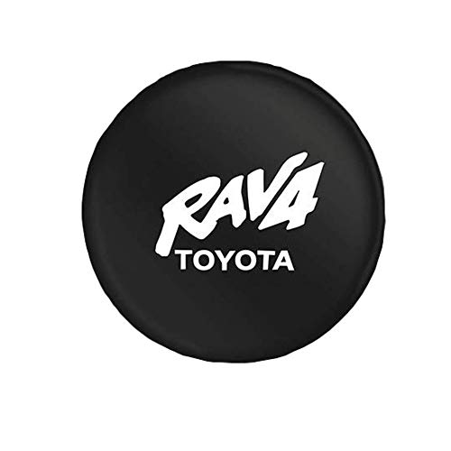NICCOVER Spare Tire Cover PU Leather Weatherproof Car Spare Tire Cover Size 15 inch Suitable for Toyota RAV4 Tire Diameter 27