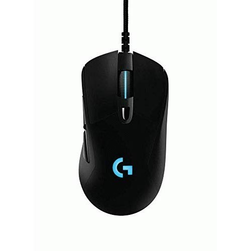 (Logitech G403 Hero 16K Gaming Mouse, Lightsync RGB, Lightweight 87G+10G Optional, Braided Cable, 16, 000 DPI, Rubber Side Grips)