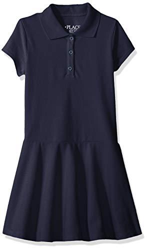 The Children's Place Big Girls' Short Sleeve Polo Dress, Tidal, L (10/12) (Girl Polo Dress)