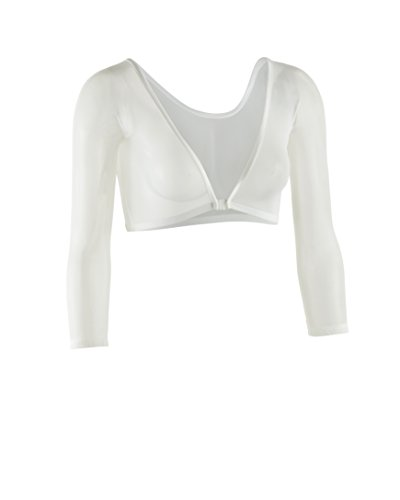 (Sleevey Wonders Women's Basic 3/4 Length Slip-on Mesh Sleeves XS Ivory)