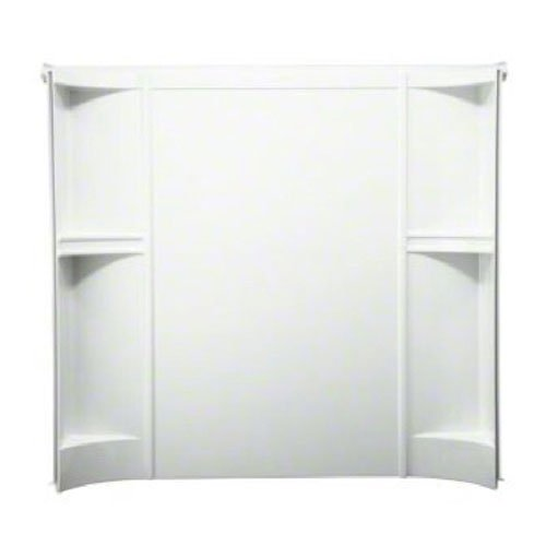 STERLING 71244100-0 Accord 31-1/4-Inch x 60-Inch x 55-Inch Direct-to-Stud Tub and Shower Wall Set in White , 3-Piece
