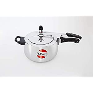 TUFFWARE Aluminium Classic Pressure Cooker, Inner Lid, Silver, 1.5 litres, Silver