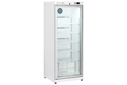 Scientific Refrigerator by K2 Scientific | for Vaccines & Medical Use | 10 Cu. Ft. | 6 Shelves | Upright | Glass Door | Microprocessor Controller | Variable Defrost | Adjustable Temperature Control
