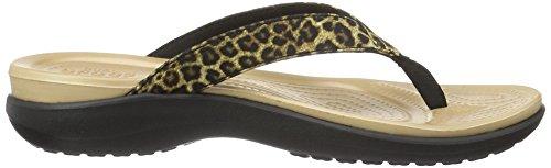 Mujeres Crocs Caprivflip Zapatillas Multicolor (leopard_90l) Barato Perfect cDOJgYJN0