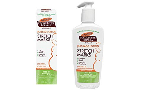 Palmer's Cocoa Butter Massage Cream for Stretch Marks Tube & Pump Bottle Set