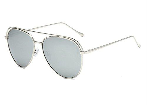 De Black Silver Marco Trends Gafas De Sol Polarizadas 2018 De Redondo Vidrio Film De De New Espejo Color aTBXwpq