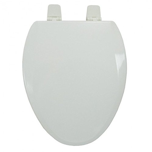Jones Stephens Premium Molded Wood Seat for Vortens<sup></sup> Toilets, White, Elongated, Closed Front with Cover
