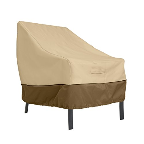 Hampton Slipcover - Classic Accessories Veranda Patio Lounge Chair/Club Chair Cover - Durable and Water Resistant Outdoor Furniture Cover, Large (70912)