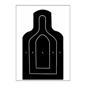 US ARMY (DOD) M9 HEAVY TAGBOARD TARGETS 25 PACK by Law Enforcement