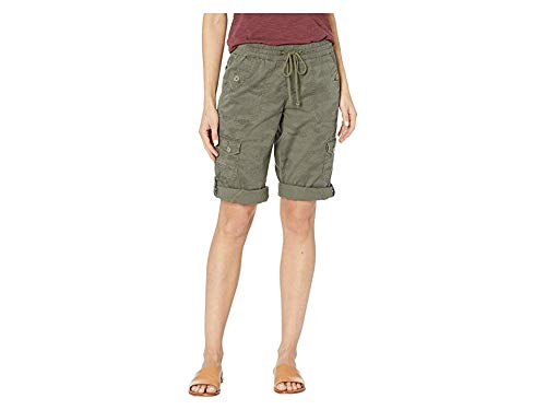 UNIONBAY Women's Finnley Camo Skimmer Shorts Greek Olive -