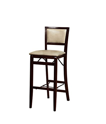 Cheap Linon Triena Jute Pad Back Folding Bar Stool