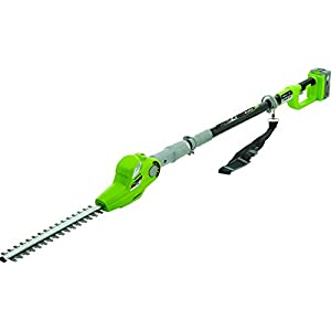 Earthwise LPHT12417 17-Inch 24-Volt Lithium Ion Cordless Electric Pole Hedge Trimmer