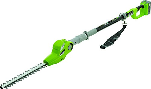 Earthwise LPHT12417 17-Inch 24-Volt Lithium Ion Cordless Electric Pole Hedge Trimmer by Earthwise