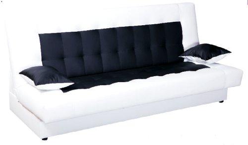 Schlafsofa Funktionssofa Sofa Bett Incl Kissen Weiss Schwarz Mit Bettkasten Bettmix