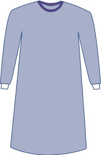 Medline DYNJP2004S Sterile Non-Reinforced Sirus Surgical Gowns with Set-in Sleeves, 3X-Large, Blue (Pack of 18)