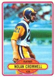 1980 Rookie Card (1980 Topps Football Rookie Card #423 Nolan Cromwell Mint)
