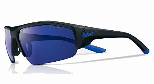 Nike EV0859-004 Skylon Ace XV R Sunglasses (One Size), Matte Black/Game Royal, Grey with Blue Night Flash - Skylon Nike Sunglasses Ace