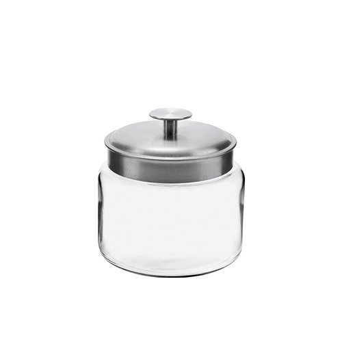 Anchor 77976 Montana Jar with Brushed Aluminum Metal Cover, 48 oz. (Anchor Montana Jar)
