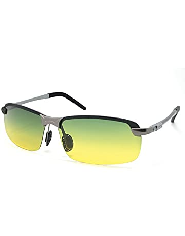 2fa6a7e7b96 LZXC Men s Driving Polarized Sunglasses with Adjustable AL-MG Black Frame  Day and Night Vision