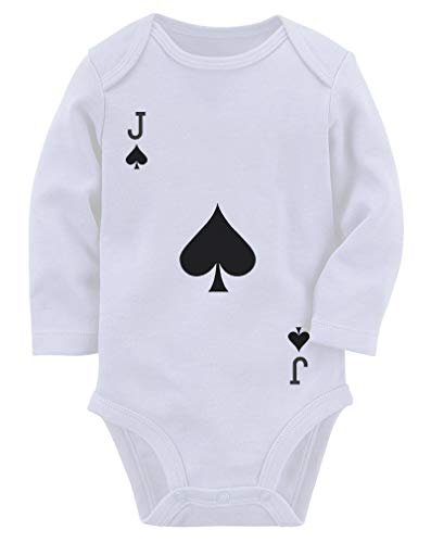 Jack Of Spades Costume (Easy Halloween Costume Jack of Spades Playing Card Baby Long Sleeve Bodysuit 12M (6-12M))