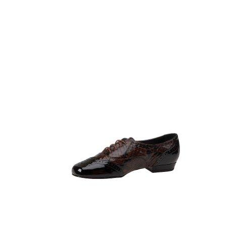 Marque Lemp Classiques Womens Jake Oxford Black-brown-patent