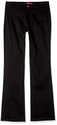 (Dickies Girl Junior's Worker Boot Cut Pant, Black, 0)