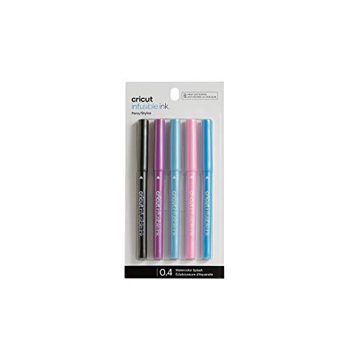 Marcadores de tinta infusible Cricut 2007920, marcadores de punto medio de salpicaduras de color de agua (1.0), 5 unidades