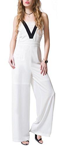 Talever Womens Sleeveless Chiffon Jumpsuits product image