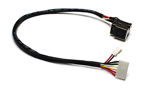 Power4Laptops Compatible Laptop DC Jack Socket with Cable Fits HP Pavilion DV7-2011EG, HP Pavilion DV7-2011TX, HP Pavilion DV7-2012TX, HP Pavilion DV7-2013TX, HP Pavilion DV7-2014TX ()